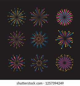set firework night decoration to event