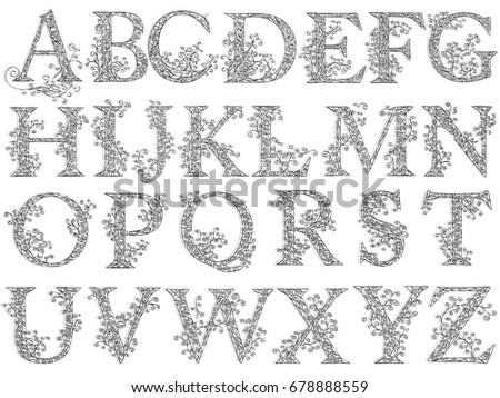8a209de4c Vetor stock de Set Fishnet Lace Font Capital Letters (livre de ...