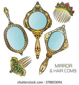 Vintage Hand Mirror Images, Stock Photos & Vectors | Shutterstock