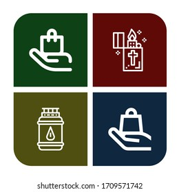 Set of flammable icons. Such as Handle with care, Lighter, Gas bottle , flammable icons