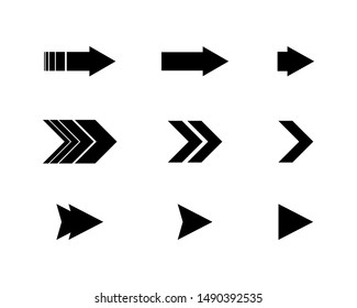 Set flat arrows vector with isolated on white background. Collections for web design, interface and more.