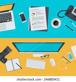 Set of flat design illustration concepts for advertising, business, e-commerce, social network. Concepts for web banners and promotional materials.