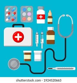 set flat element medicine tool