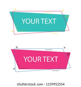set flat geometric banners for promotion campaign