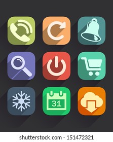 Set of Flat Icons for Web and Mobile Apps