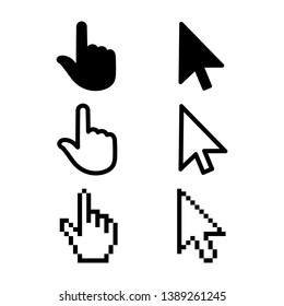 Set of flat modern cursor icons – for stock