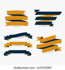 set of flat premium ribbons