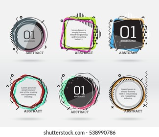 Set of flat sale banners. Vector abstract geometric illustrations for product promotions, shop sales, website ans mobile ads, quote boxes, messages, business offers.