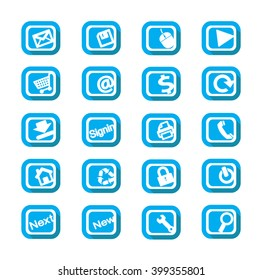 Set Flat Web Icon