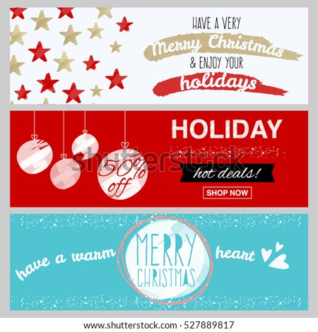 Winter Holiday Banners Garage Door Banners