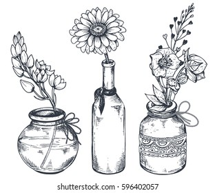 Flower Vase Sketch Images Stock Photos Vectors Shutterstock