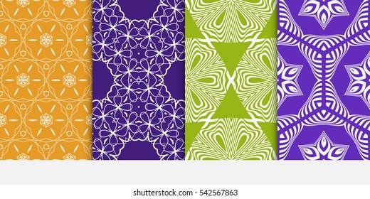 set of floral geometric decorative texture. decorative print. Vector illustration. for Valentine's day, Wedding, greeting invitation.