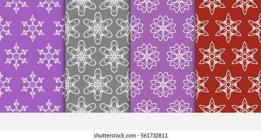 set of floral ornament. seamless pattern. Abstract Geometric Background Design. for wallpaper, invitation, textile, decor, fabric