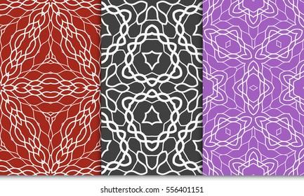 set of floral ornament. seamless vector pattern. interior decoration, wallpaper, invitation, fashion design.