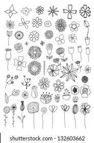 Flower Doodles Images Stock Photos Vectors Shutterstock