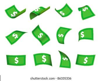 set of flowing cash