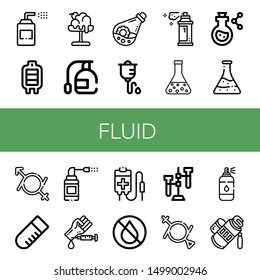 Set of fluid icons such as Sprays, Blood transfusion, Melt, Spray, Flask, Intravenous therapy, Gender fluid, Test tube, Blood test, Blood bag, Ink, Tube , fluid