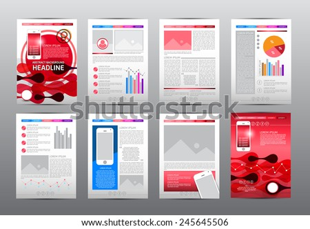 set flyer brochure booklet design templates stock vector royalty