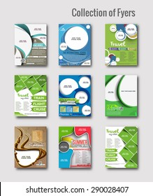 Set of Flyer & Poster Design in A4 Size Template.