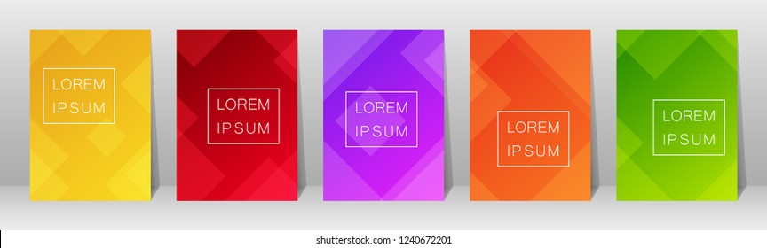 Set of flyer template design with abstract background