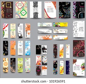 Set of flyers , banners , labels .