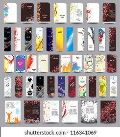 A set of flyers, banners, labels, card and roll-up .