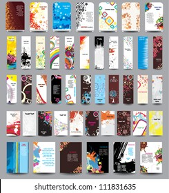 A set of flyers, banners, labels, roll-up and card .