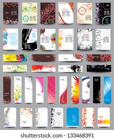 A set of flyers, banners, labels, roll-up