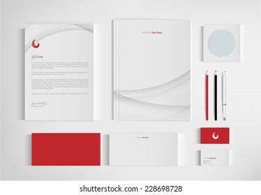 set folder for business. vector