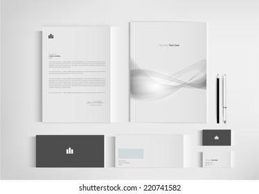 set folder documentation for business. vector