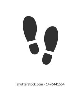 Set of footprints shoes icon vector sign isolated on white background. Set of footprints shoes  symbol template color editable