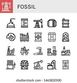 Set of fossil icons such as Oil rig, Storage tank, Barrel, Oil pump, Nautilus, Oil tank, Troglodyte, mining, Industry, Barrels, Coal factory, Fuel, Pumpjack, barrel , fossil