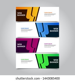 Set of four abstract vector banners.modern template design for web