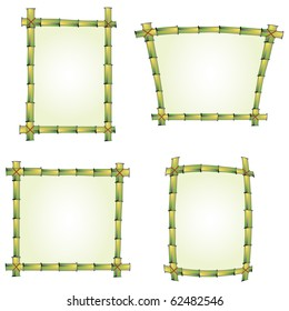 set of four bamboo frames for signs