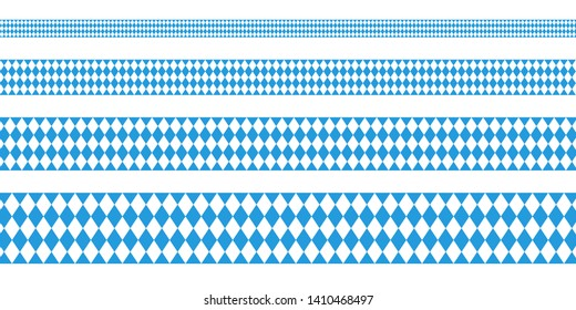 Set Of Four Banner Octoberfest Straight Diamond Pattern