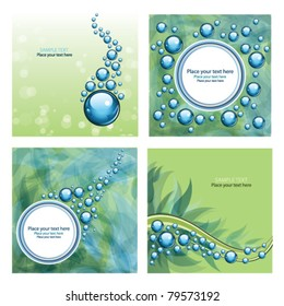 Set of four beautiful abstract background