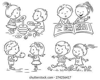 Kid Walking Drawing - Vectorain - Free Vectors, Icons ...