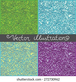 Set of four color templates - abstract lines