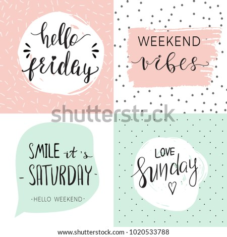 set four cute templates inspirational quotes stock vector royalty