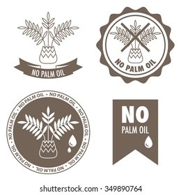 Set of four labels - no palm oil inside.