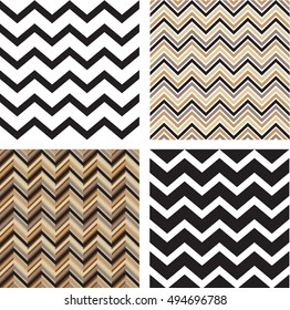 Set of four seamless geometric patterns