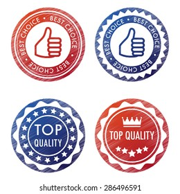 Set of four stamps in blue and red thumb top quality and best choice.