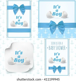 boy template baby shower celebration baby stock vector royalty free