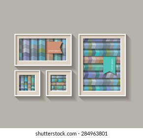 Set of a frame with Geometric lines