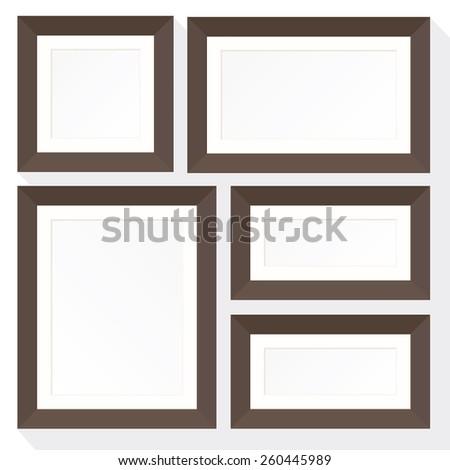 Set Frame Mockup Consists Five Frames Stock Vector (Royalty Free ...