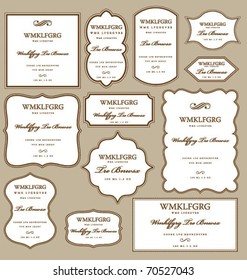 SET OF FRAMES DESIGN ELEMENTS. Editable vector illustrator file.