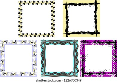 Set of frames with geometric elements