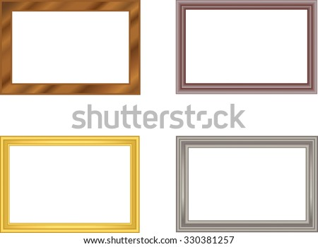 11cff8a3ae9 ... Vector (Royalty Free) 330381257 - Shutterstock. set of frames gold  silver plastic wood