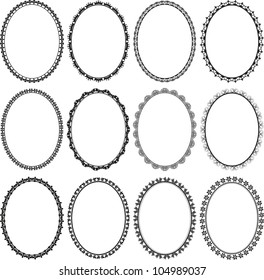 set of frames oval