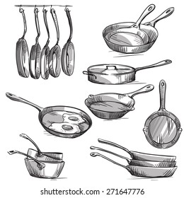 Set of frying pans